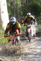 Tasmanian dirt bike and trail bike adventure tours Tasmania, Australia