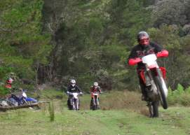 Guided trail bike and dirt bike tours in North East Tasmania, Australia